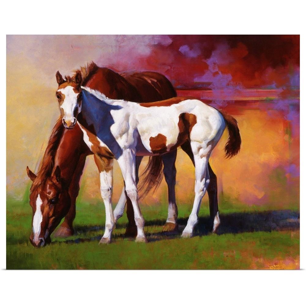 Hot Color Poster Art Print, Horse Home Decor
