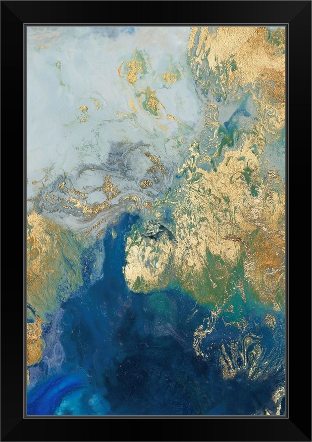 Ocean Splash II Black Framed Wall Art Print, Home Decor | eBay