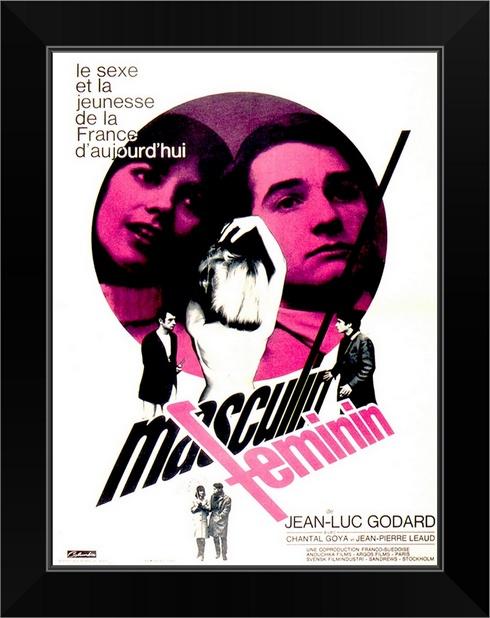 Masculine-Feminine-1966-Black-Framed-Art-Print