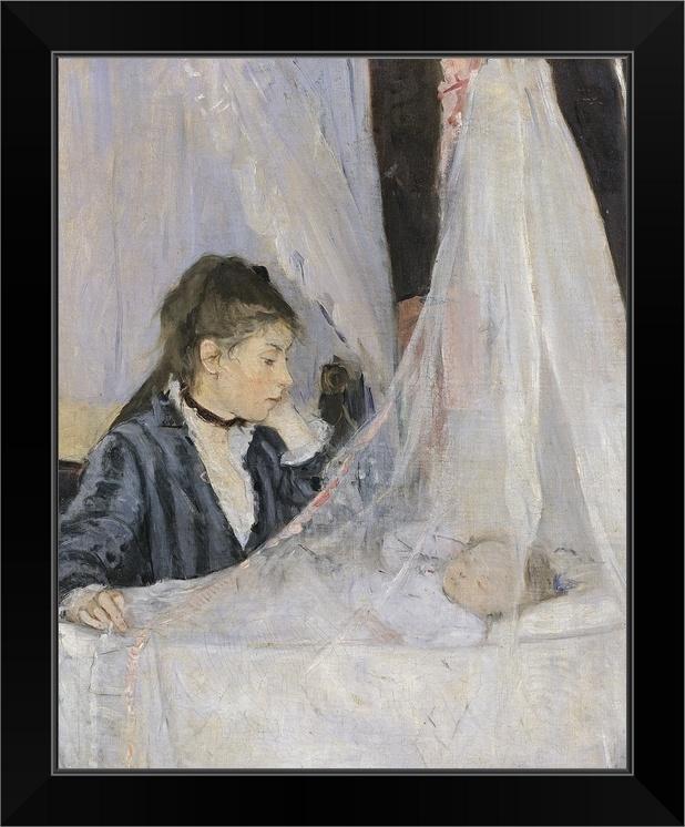 The Cradle 1872 Black Framed Art Print