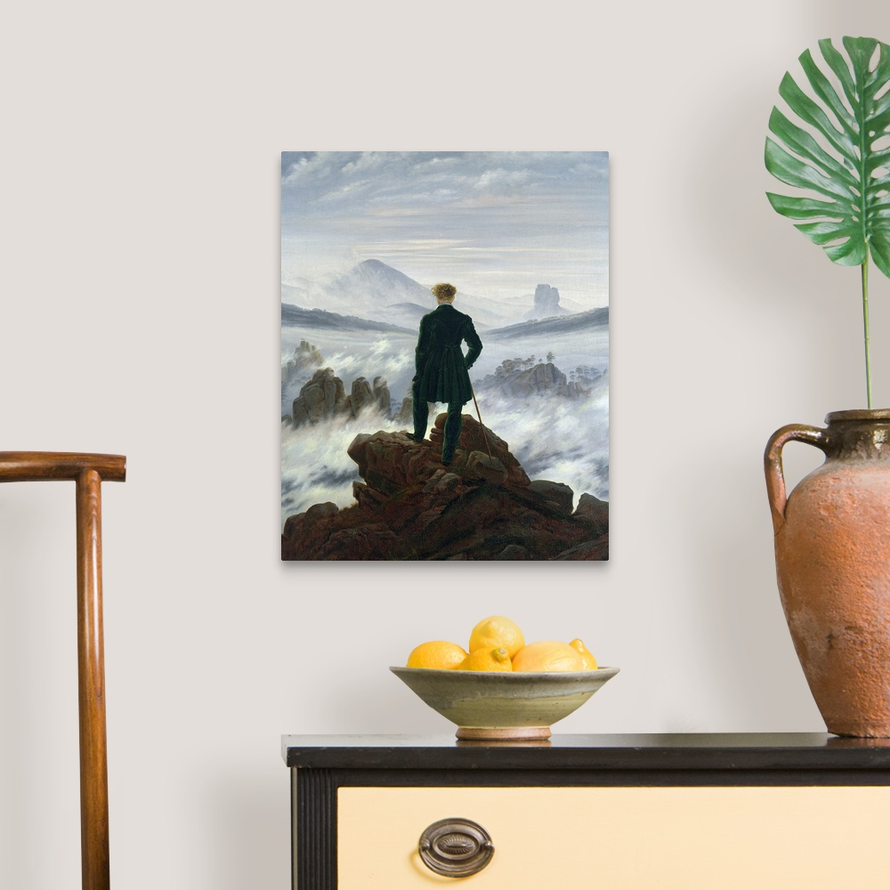 """1818/"""" Canvas Art Print /""""The Wanderer above the Sea of Fog"""