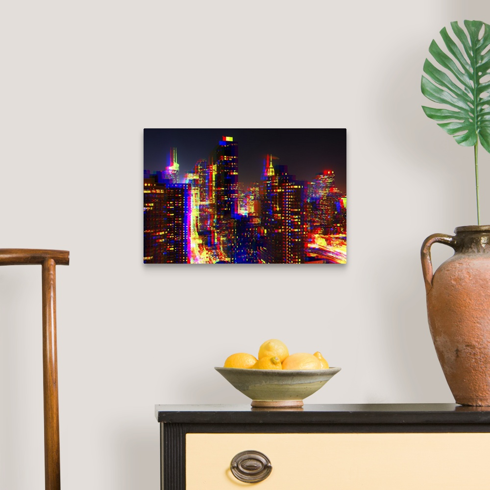 After-Twitch-Series-NYC-Night-Colors-Canvas-Art-Print miniature 5