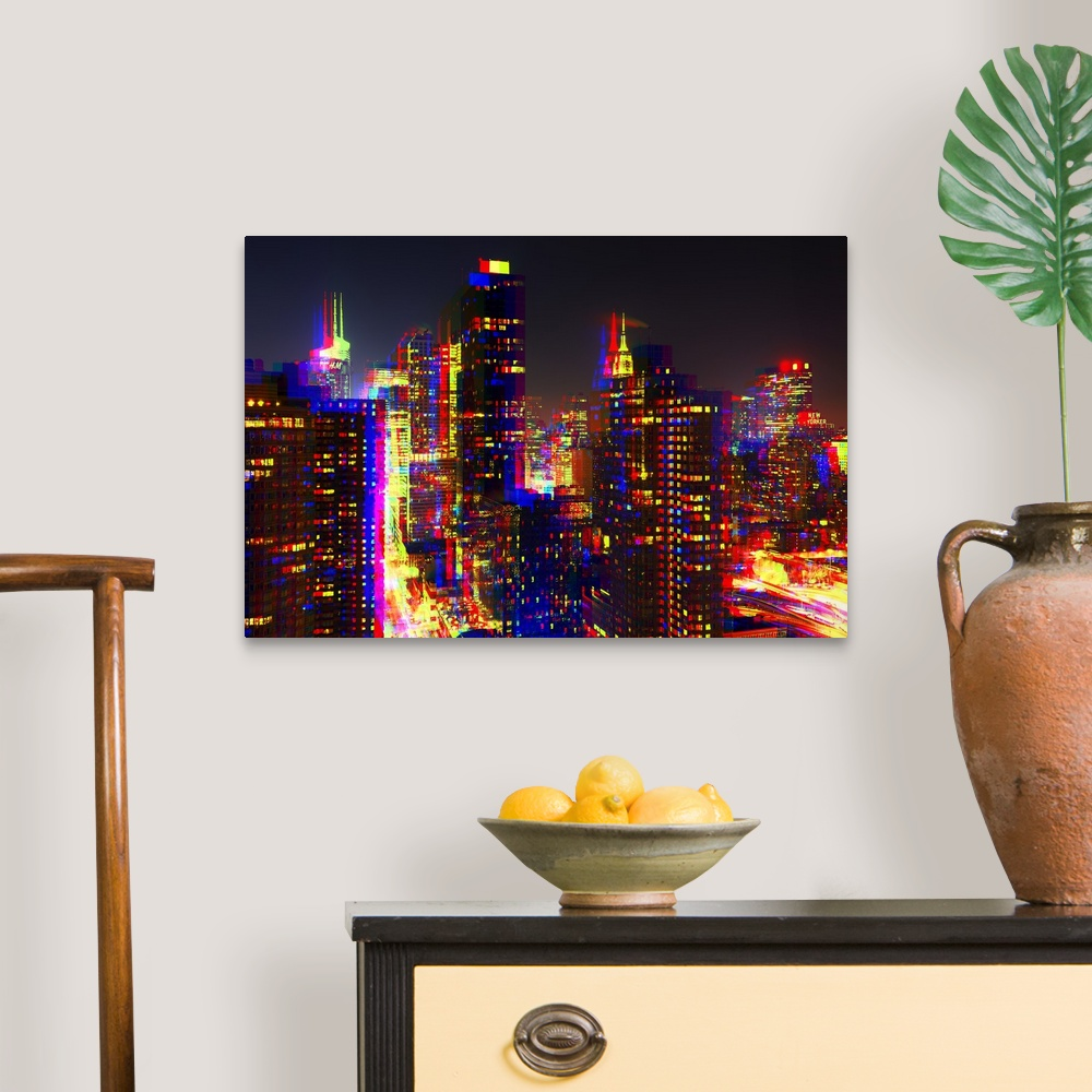 After-Twitch-Series-NYC-Night-Colors-Canvas-Art-Print miniature 6