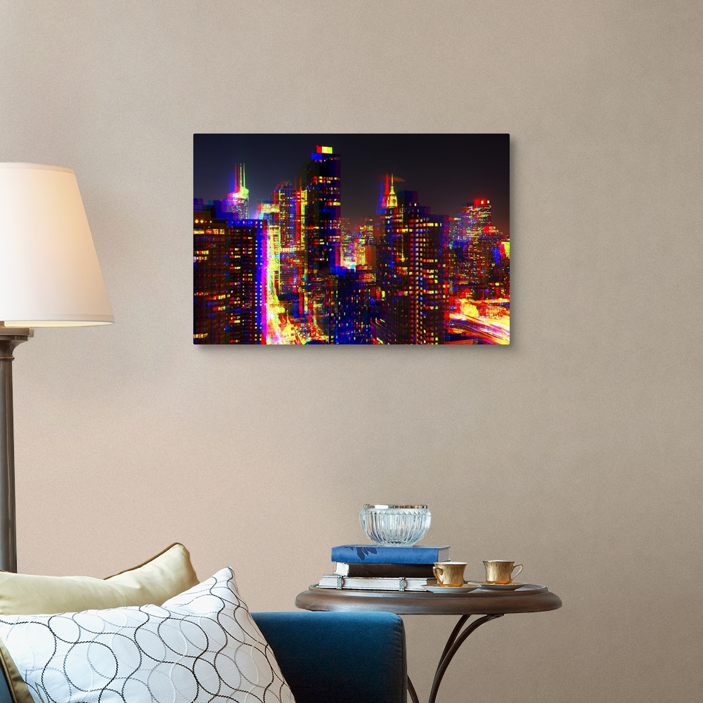 After-Twitch-Series-NYC-Night-Colors-Canvas-Art-Print miniature 7