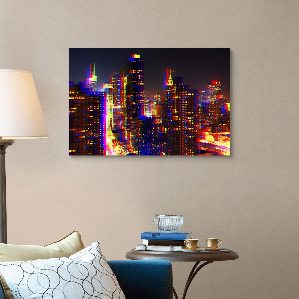 After-Twitch-Series-NYC-Night-Colors-Canvas-Art-Print miniature 8
