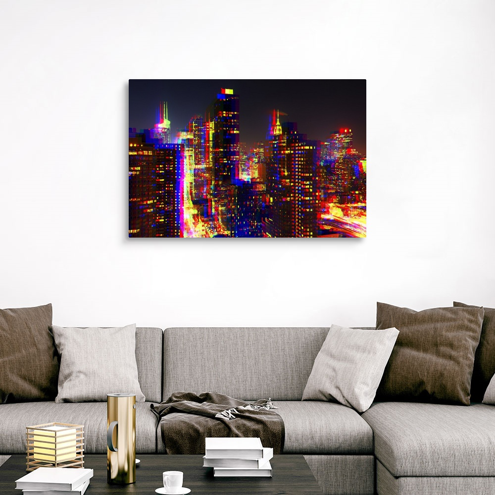 After-Twitch-Series-NYC-Night-Colors-Canvas-Art-Print miniature 9