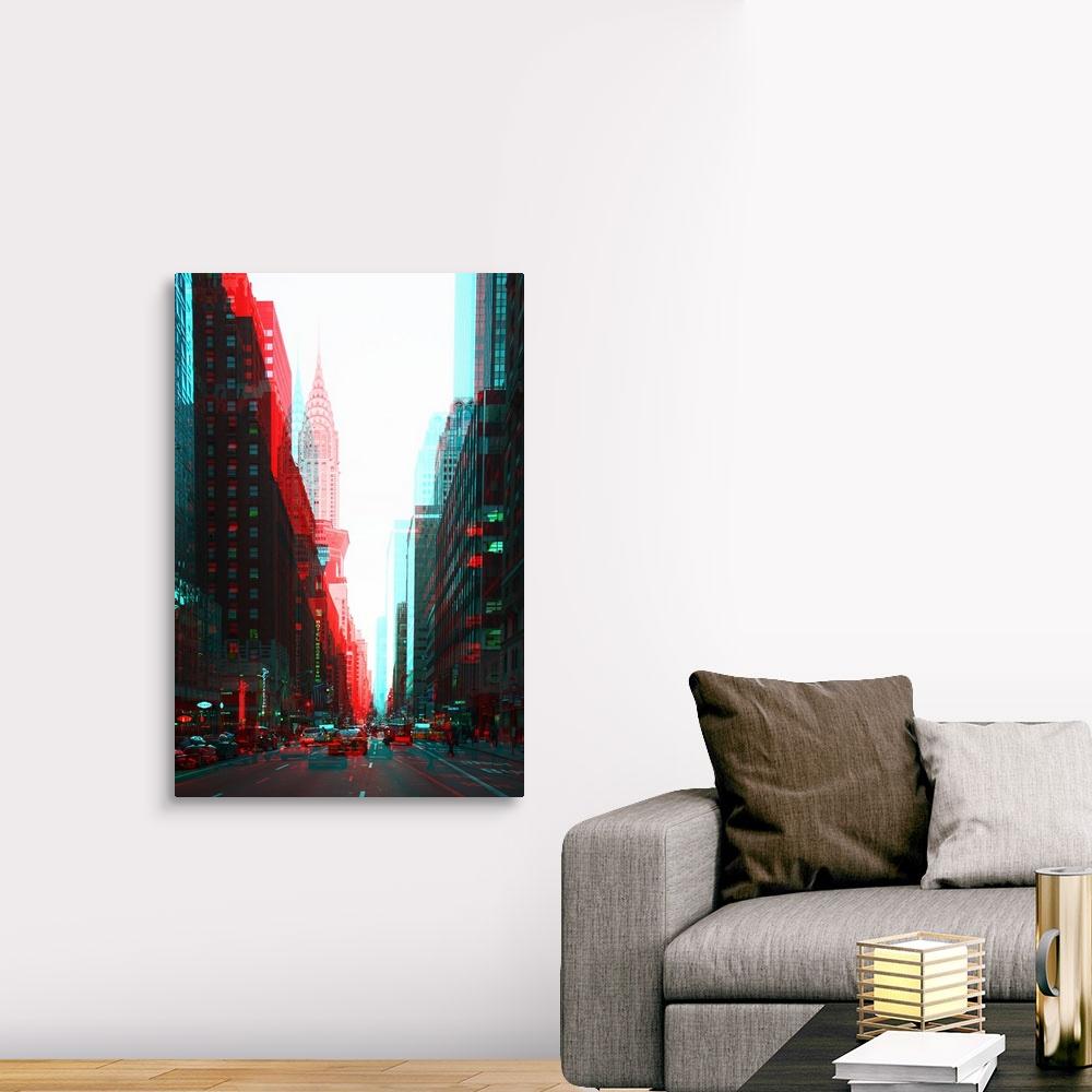 After-Twitch-Series-Manhattan-Traffic-Canvas-Art-Print miniature 9