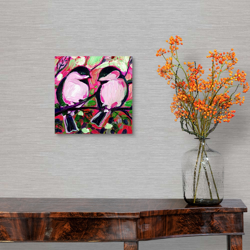 Valentine-Chickadees-in-Love-Canvas-Art-Print thumbnail 5