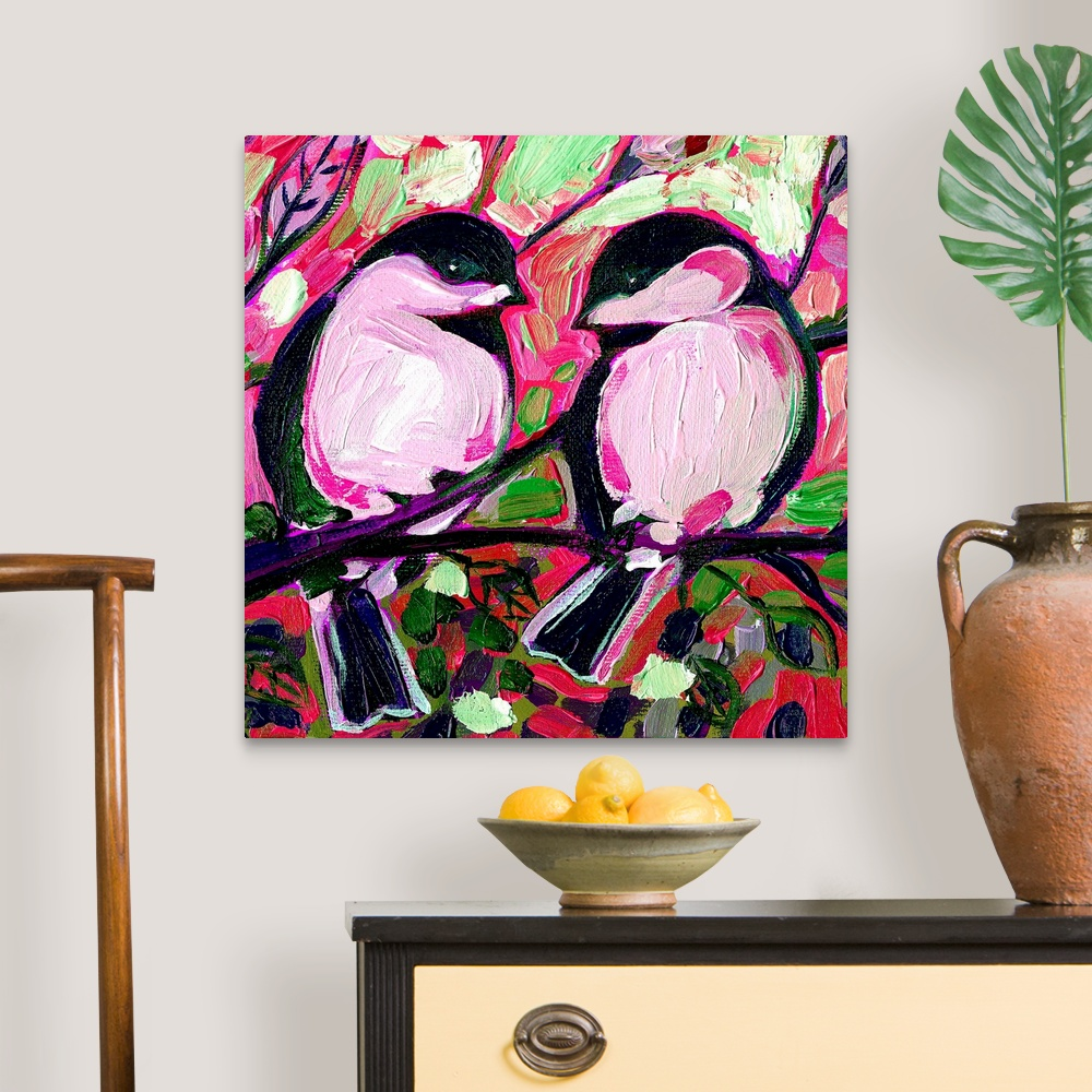 Valentine-Chickadees-in-Love-Canvas-Art-Print thumbnail 7