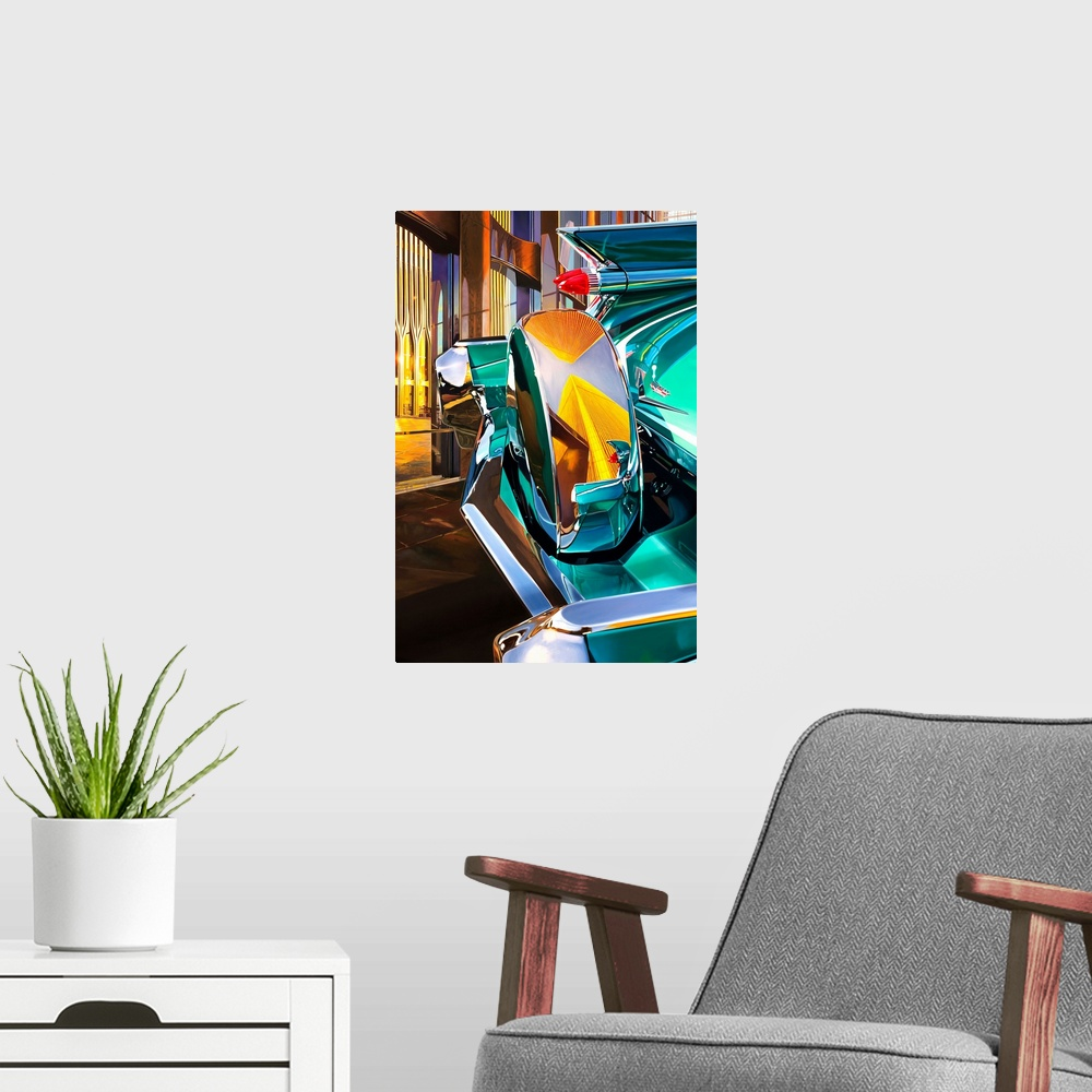 '59 Cadillac Coup DeVille Poster Print