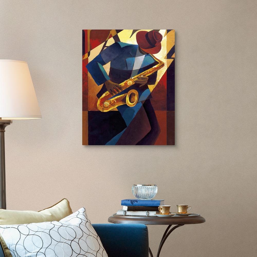 Bebop Canvas Wall Art Print Jazz Home Decor