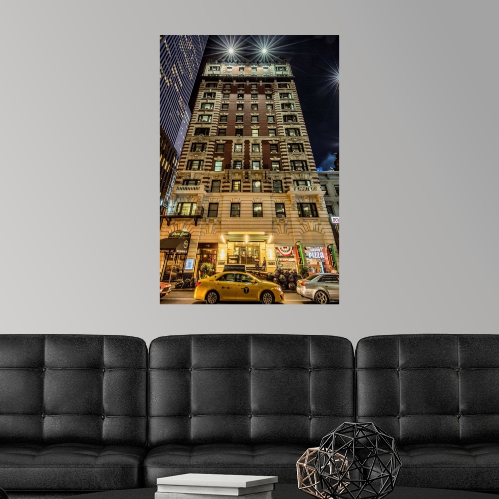 Apartments Near Nyu: Apartment Building Near Times Square In New York City Wall