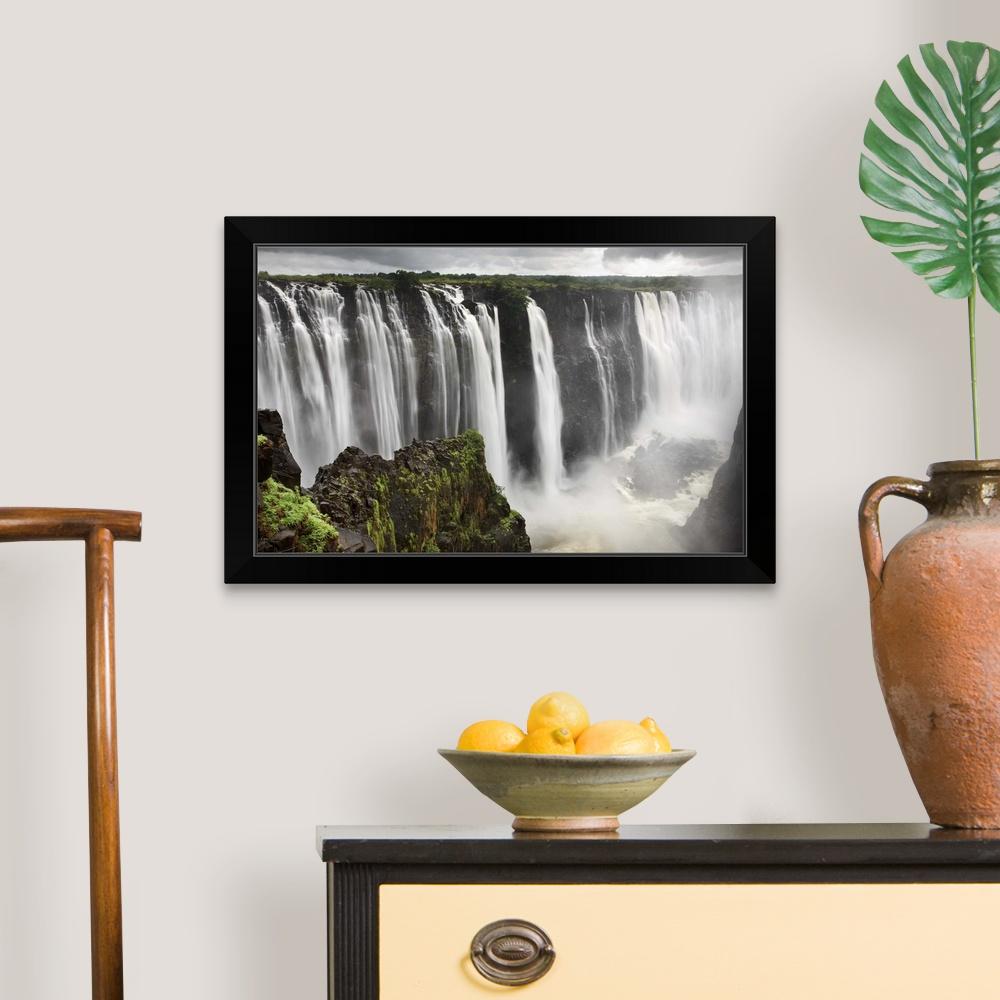Victoria Falls, Zimbabwe, Southern Black Framed Wall Art ...