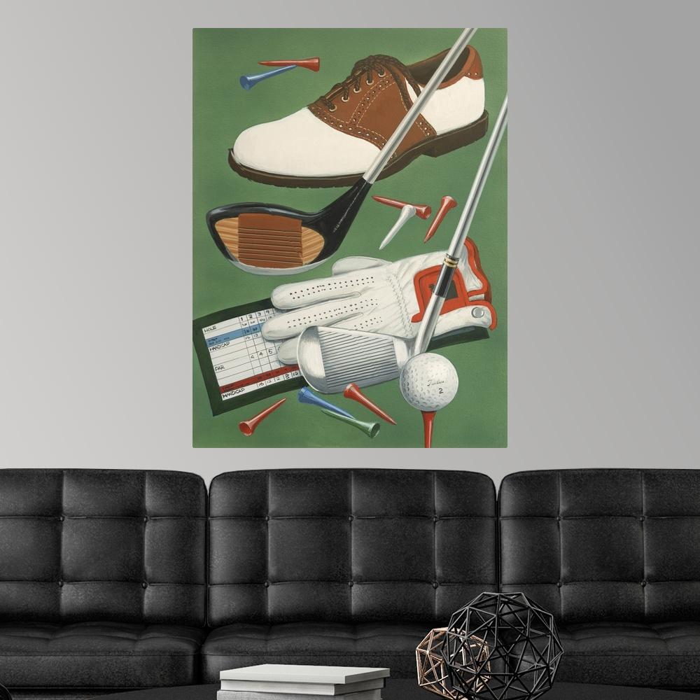 Golf Goodies Poster Art Print, Golf Home Decor   eBay