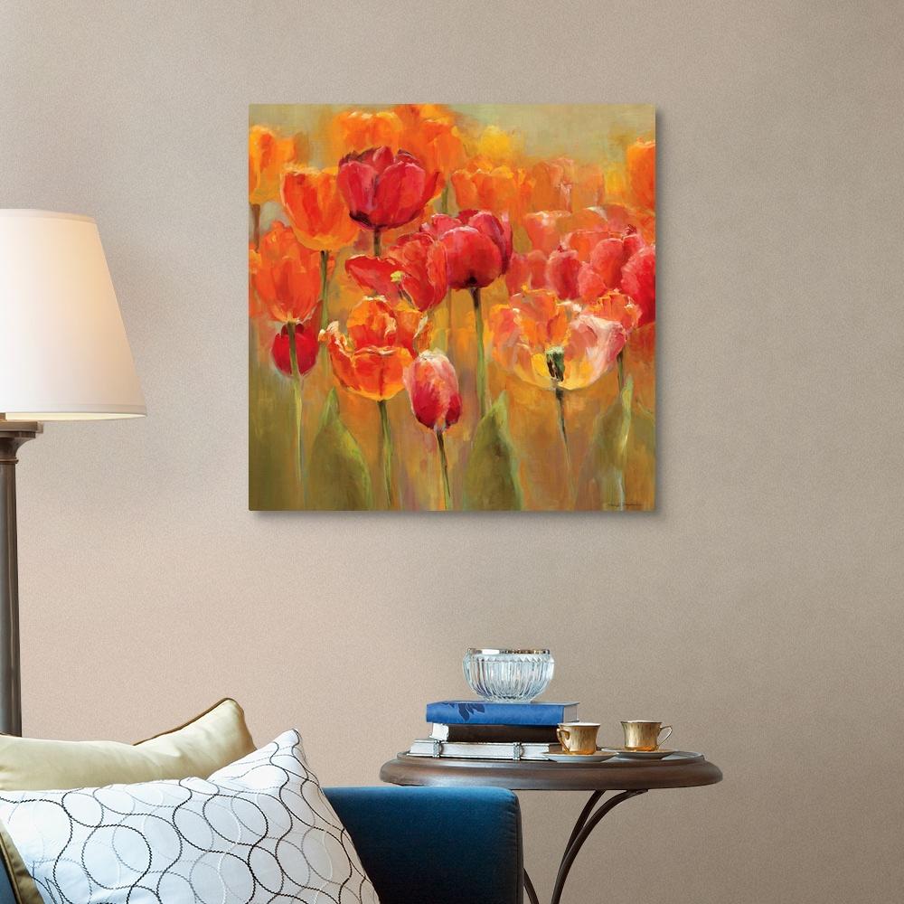 Tulips In The Midst Iii Canvas Wall Art Print Tulip Home Decor Ebay