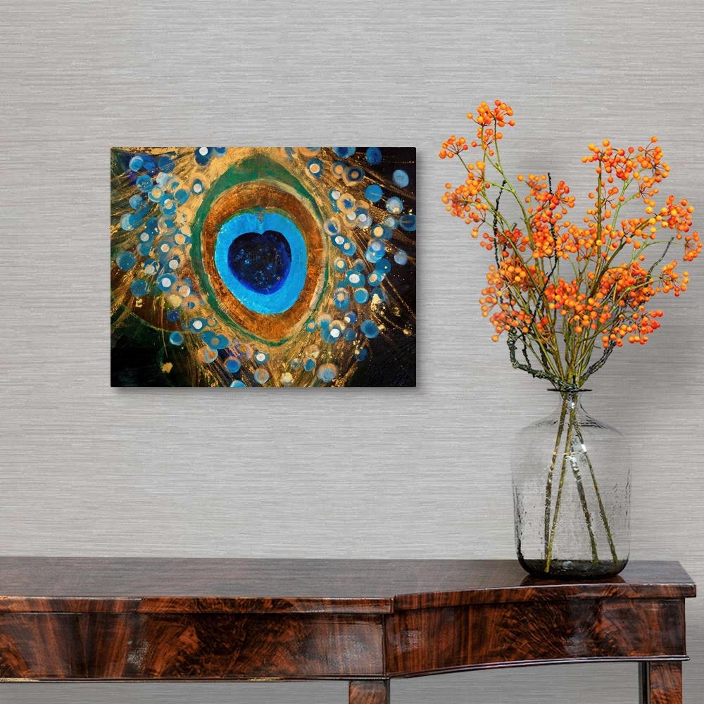 thumbnail 10 - Peacock Plume I Canvas Wall Art Print, Peacock Home Decor