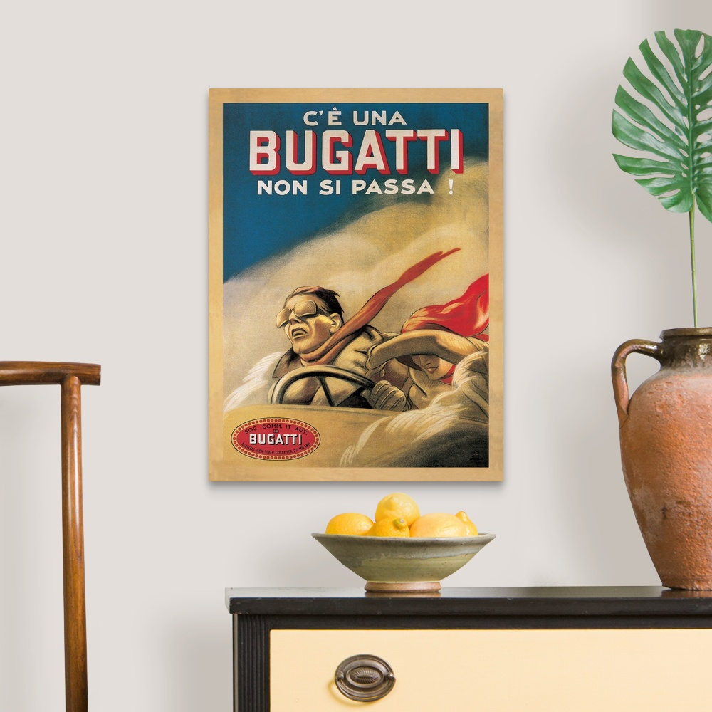 miniature 7 - Bugatti, 1922 Canvas Wall Art Print, Car Home Decor