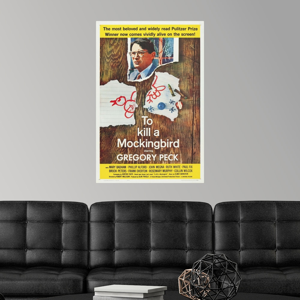 To Kill A Mockingbird - Vintage Movie Poster Wall Decal