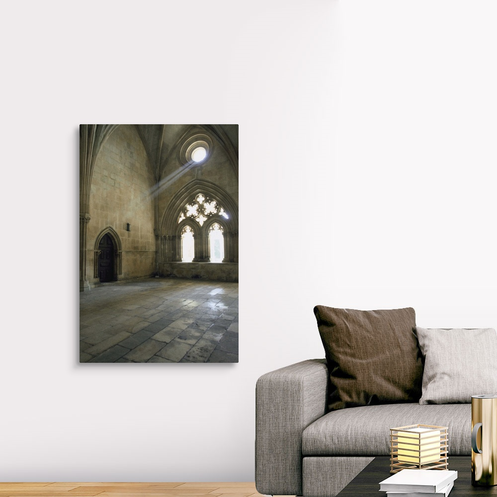 Canvas Wall Art Print Interiors of a monastery Portugal Home Decor Batalha