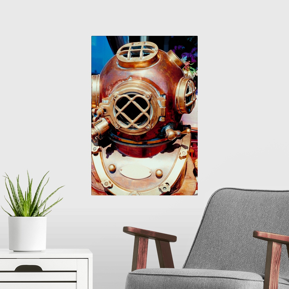 Old-Fashioned Scuba Diver Mask Poster Art Print ...