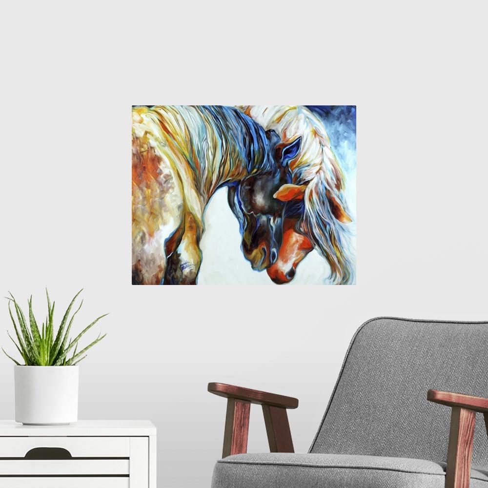 Forever Friends Poster Art Print Horse Home Decor
