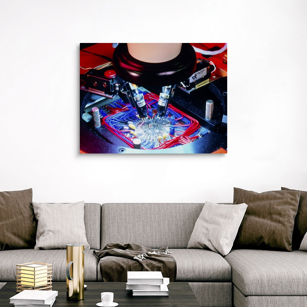 Quality control of integrated circuit Canvas Wall Art Print Photography Home