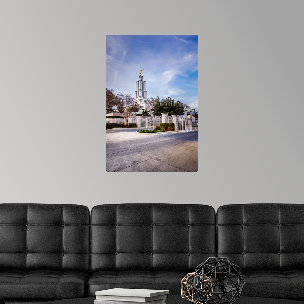 Temple Texas Traditional Home: San Antonio Texas Temple, From The Poster Art Print, Texas